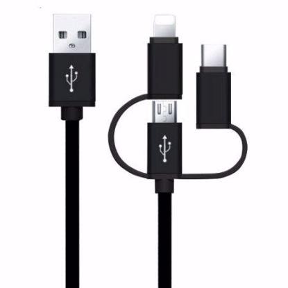 Picture of iGo 3in1 Type-C, Lightning & Micro USB 1m Cable