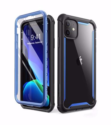 Picture of i-Blason i-Blason Ares Full Body Case with Screen Protector for iPhone 11 in Blue
