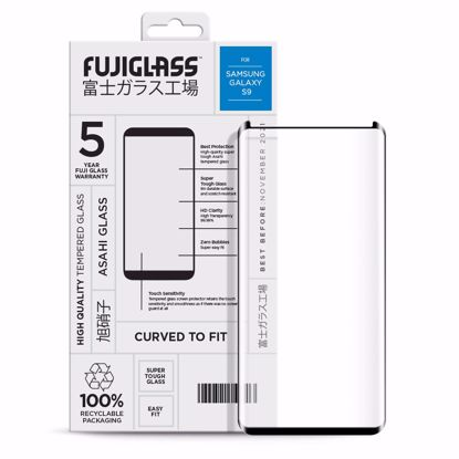 Picture of Fuji Fuji Curved-to-fit Screen Protector for Samsung Galaxy S9 in Clear/Black